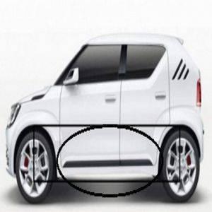 Car Door Side Beading for Ignis - Side moulding - Colour: Matte Black