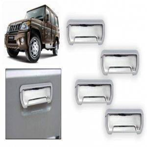 UNO AUTOMOTIVES - Premium Quality Chrome Door Handle Latch Cover - Mahindra Bolero
