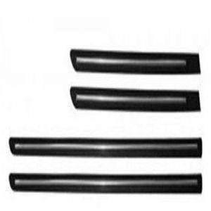 Car Door Side Beading - FORD Figo Aspire Chrome Line with 3M Adhesive Tape, Colour: Matte Black(Set of 4)