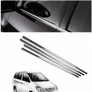 AUTO ATTIRE Premium Quality Innova Chrome Plated Window Garnish / Lower Garnish / Half Door Garnish