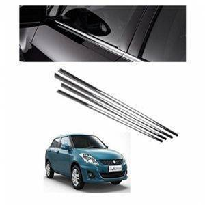 AUTO ATTIRE Premium Quality Swift Chrome Plated Window Garnish / Lower garnish / Half Door Garnish