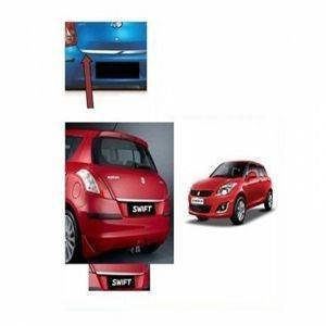 AUTO ATTIRE Premium Quality Swift Chrome Plated Dicky Patti Garnish / Back Door Garnish / Trunk lid garnish