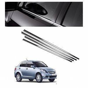 AUTO ATTIRE Premium Quality Swift Dzire / Dezire Chrome Plated Window Garnish / Lower garnish / Half Door Garnish (2015-2016)