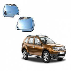 AUTO ATTIRE Premium Quality Duster Chrome Plated Mirror Cover (02Pcs)