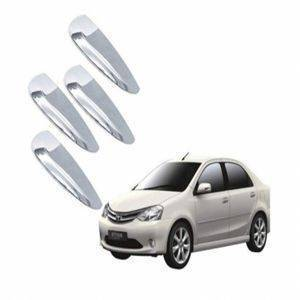 AUTO ATTIRE Premium Quality Etios Chrome Plated Handle Cover / Catch Cover