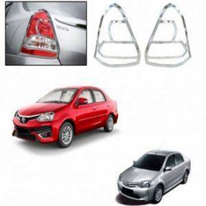 AUTO ATTIRE Premium Quality Etios Chrome Plated Tail Light Cover Garnish (02 Pcs)