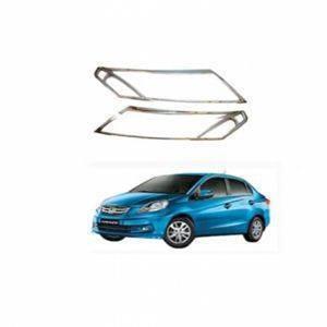 AUTO ATTIRE Premium Quality AMAZE Chrome Plated Head Light Cover Garnish (02 Pcs)