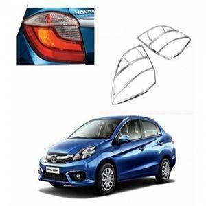 AUTO ATTIRE Premium Quality AMAZE 2018 Chrome Plated Tail Light Cover Garnish (02 Pcs)