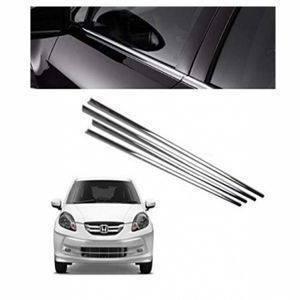 AUTO ATTIRE Premium Quality AMAZE Chrome Plated Window Garnish / Half Door Garnish / Lower Garnish (04 Pcs)
