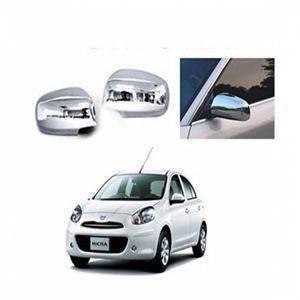 AUTO ATTIRE Premium Quality MICRA Chrome Plated Mirror Cover (02 Pcs)