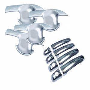 AUTO ATTIRE Premium Quality CIAZ Chrome Plated Handle Bowl / Finger Bowl Guard (08 Pcs) (Without Sensor)
