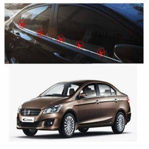 AUTO ATTIRE Premium Quality CIAZ Chrome Plated Window Garnish / Lower Garnish / Half Door Garnish (04 Pcs)