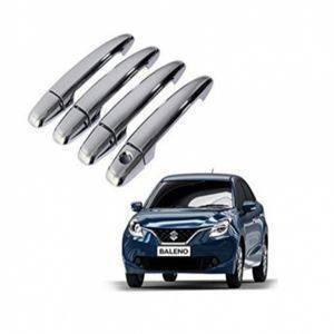 AUTO ATTIRE Premium Quality BALENO Chrome Plated Handle cover / Catch Cover (without Sensor)