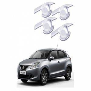 AUTO ATTIRE Premium Quality BALENO Chrome Plated Handle Bowl / Finger Bowl Guard