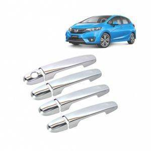 AUTO ATTIRE Premium Quality JAZZ Chrome Plated Handle Cover / Catch Cover (04 Pcs)