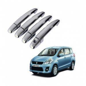 Premium Quality ERTIGA Chrome Plated Handle Cover / Catch Cover (Without Sensor) 4 Pcs