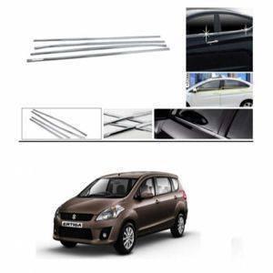 AUTO ATTIRE Premium Quality ERTIGA Old Chrome Plated Window Garnish / Half Door Garnish / Lower Garnish (04 Pcs)