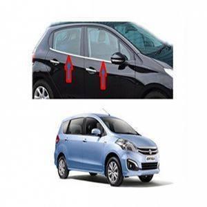AUTO ATTIRE Premium Quality ERTIGA New Chrome Plated Window Garnish / Half Door Garnish / Lower Garnish (04 Pcs)