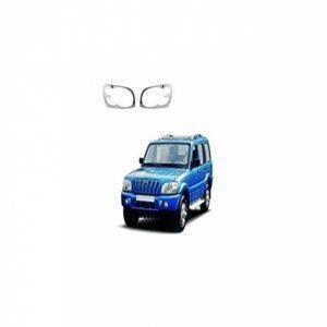 AUTO ATTIRE Premium Quality SCORPIO Chrome Plated Head Light Cover Garnish (2002-2008) 02 Pcs