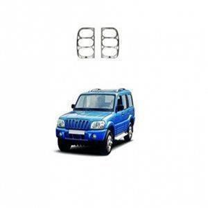 AUTO ATTIRE Premium Quality SCORPIO Chrome Plated Tail Light Cover Garnish (2002-2008) 02 Pcs