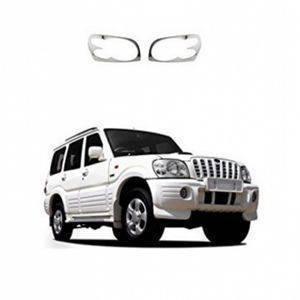 AUTO ATTIRE Premium Quality SCORPIO Chrome Plated Head Light Cover Garnish (2009-2013) 02 Pcs