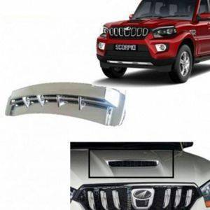 AUTO ATTIRE Premium Quality SCORPIO Scoop  Chrome Plated Garnish