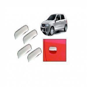 AUTO ATTIRE Premium Quality Alto Old Chrome Plated Handle Cover / Catch Cover (04 Pcs)