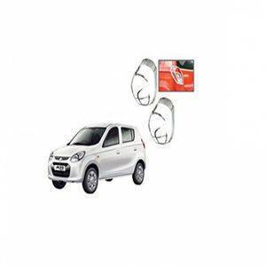 AUTO ATTIRE Premium Quality Alto 800 Chrome Plated Tail Light Cover Garnish (02 Pcs)