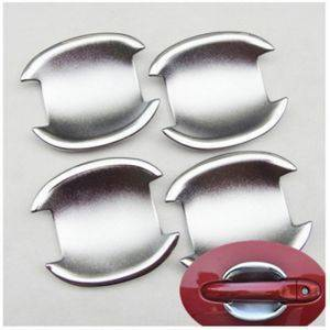 AUTO ATTIRE Premium Quality MICRA Chrome Plated Finger Bowl Guard Cover (04 Pcs)