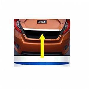AUTO ATTIRE Premium Quality JAZZ Chrome Plated Back Rear Dicky Patti Garnish / Back Door Garnish / Trunk Lid Garnish (01 Pcs)