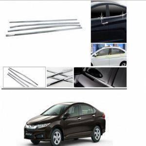 AUTO ATTIRE Premium Quality HONDA CITY IDTEC  Chrome Plated Window Garnish / Lower Garnish / Half Door Garnish (04 Pcs)