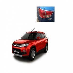 AUTO ATTIRE Premium Quality Brezza  Chrome Plated Tail Light Cover Garnish (Right Side + Left Side)