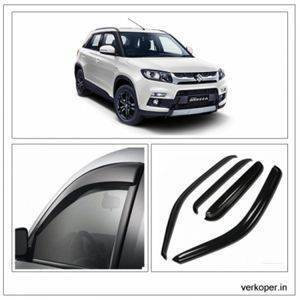 AUTO ATTIRE Premium Quality Brezza  Door Visor / Wind Visor / Rain Visor / Wind Deflector