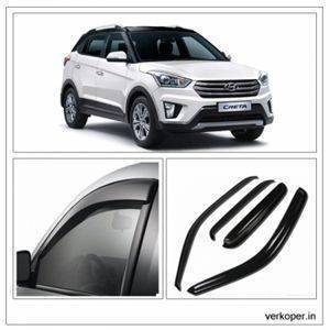 AUTO ATTIRE Premium Quality CRETA NEW  Door Visor / Wind Visor / Rain Visor / Wind Deflector
