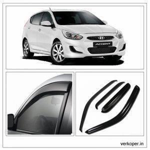 UNBREAKABLE Car Rain Visor/ Car Wind Visor/ Car Door Visor/ Side Window Deflector Hyundai Accent (4 Pcs) Free Gift Inside