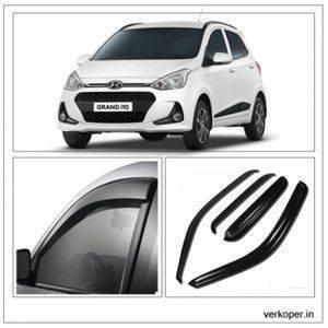 UNBREAKABLE Car Rain Visor/ Car Wind Visor/ Car Door Visor/ Side Window Deflector Hyundai i10 (4 Pcs) Free Gift Inside
