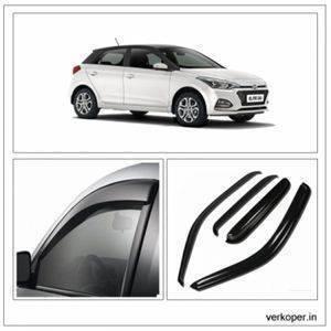 UNBREAKABLE Car Rain Visor/ Car Wind Visor/ Car Door Visor/ Side Window Deflector Hyundai i20 Elite (4 Pcs) Free Gift Inside