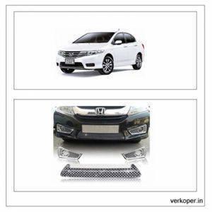 AUTO ATTIRE Premium Quality HONDA CITY IDTEC Chrome Plated Front Grill / Radiator Grill (2014-2017) 03 Pcs