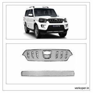 AUTO ATTIRE Premium Quality SCORPIO Latest Chrome Plated Front Grill Radiator (07 Pcs Rings Only)