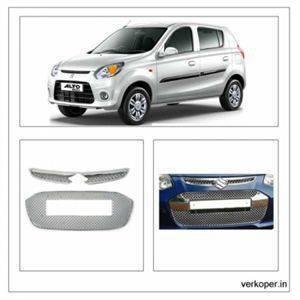 AUTO ATTIRE Premium Quality Alto 800 Chrome Plated Front Grill Radiator (02 Pcs)