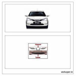 AUTO ATTIRE Premium Quality Etios Chrome Plated Front Grill Radiator (Upper + Lower) 2016- Present