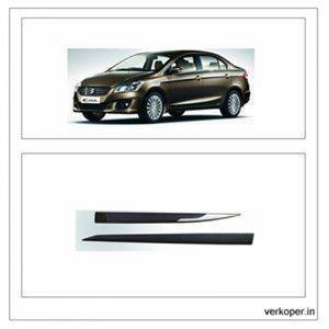 Car Door Side Beading - Maruti Ciaz Material: High Grade Polypropylene (PP) Thermoplastic with 3M Adhesive Tape, Colour: Matte Black S
