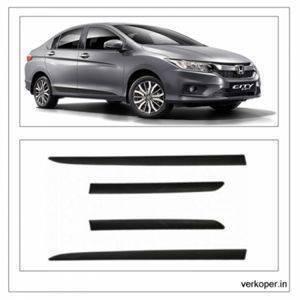 Car Door Side Beading - HONDA CITY Id Tech Material: High Grade Polypropylene (PP) Thermoplastic 3M Adhesive Tape, Colour: Matte Black