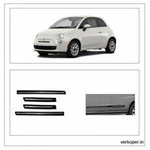 Car Door Side Beading - FIAT Linea Material: High Grade Polypropylene (PP) Thermoplastic 3M Adhesive Tape, Colour: Matte Black(Set of