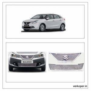 AUTO ATTIRE Premium Quality BALENO Chrome Plated Front Grill / Radiator Grill 02 Pcs (Upper + Lower)