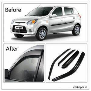 UNBREAKABLE Car Rain Visor/ Car Wind Visor/ Car Door Visor/ Side Window Deflector Maruti Alto 800 (Set of 4) Free Gift Inside