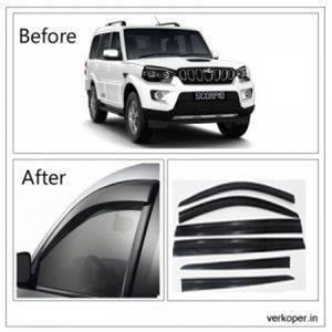 UNBREAKABLE Car Rain Visor/ Car Wind Visor/ Car Door Visor/ Window Deflector Mahindra Scorpio (6 Pcs) Free Gift Inside