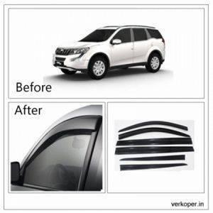 UNBREAKABLE Car Rain Visor/ Car Wind Visor/ Car Door Visor/ Window Deflector Mahindra XUV 500 (6 Pcs) Free Gift Inside