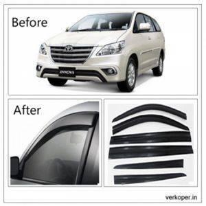 UNBREAKABLE Car Rain Visor/ Car Wind Visor/ Car Door Visor/ Window Deflector Toyota Innova (6 Pcs) Free Gift Inside