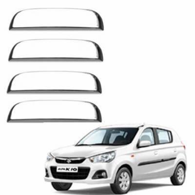 AUTO ATTIRE Premium Quality Alto K10 New  Chrome Plated Handle Cover / Catch Cover